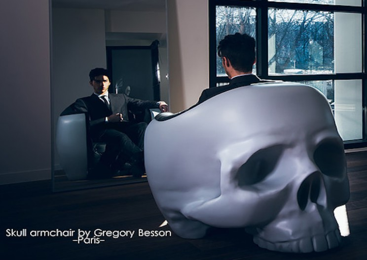 Feel Like a Super Villain in this Skull Armchair