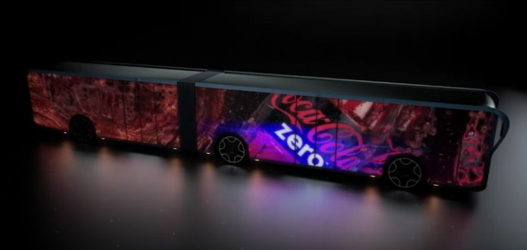 The Willie bus: A concept LCD-covered bus from the future