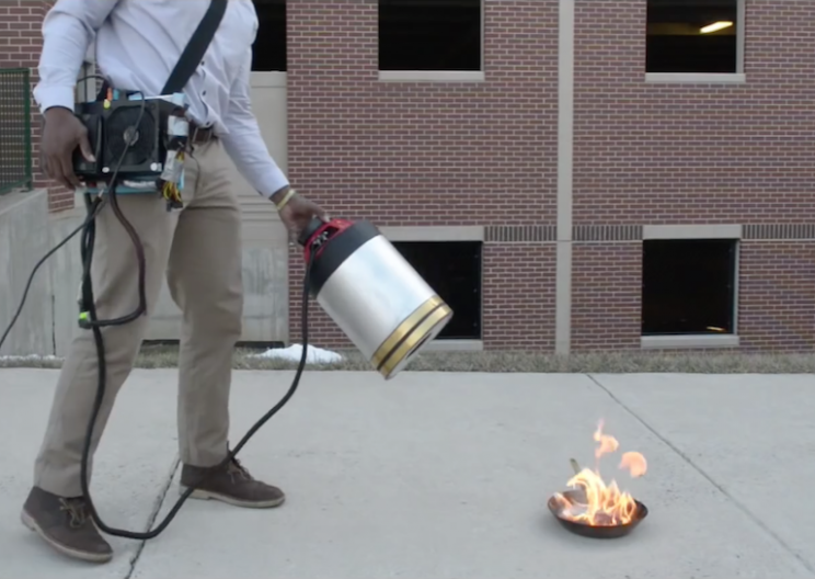 Two Engineering Students Invent A Sonic Fire Extinguisher