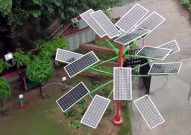 Solar Powered Trees: More Energy with Drastically Less Space