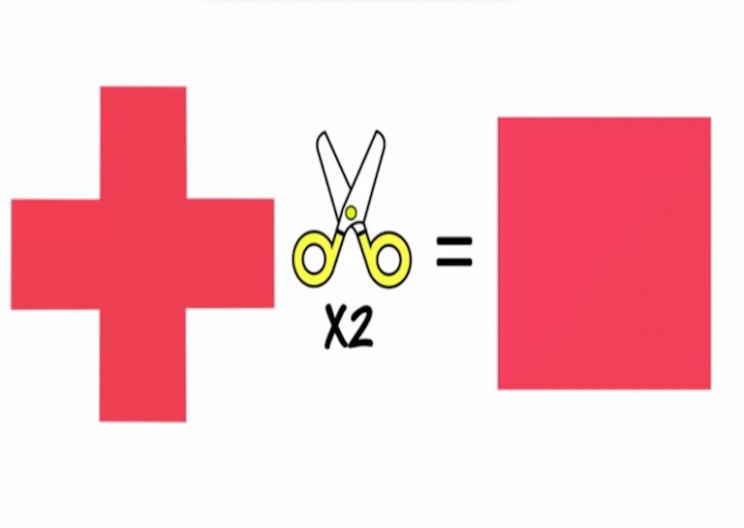Turn a Cross into a Square in Two Cuts – Can You do It?