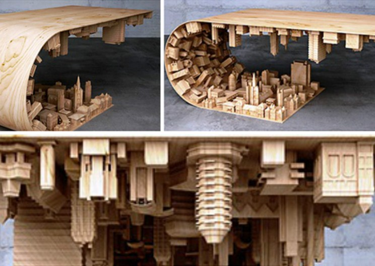 "Furniture Designer Creates ""Inception""-Inspired Coffee Table"