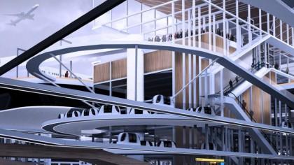 Student designs concept airport built above city