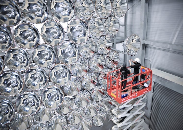 The World's Largest Artificial Sun 'Synlight' Rises in Germany
