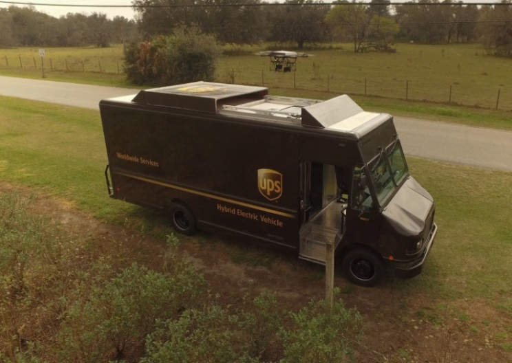 UPS Delivery Drone Nearly Smashes During Demonstration
