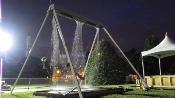 The Waterfall Swing is a thrilling piece of art from form and function