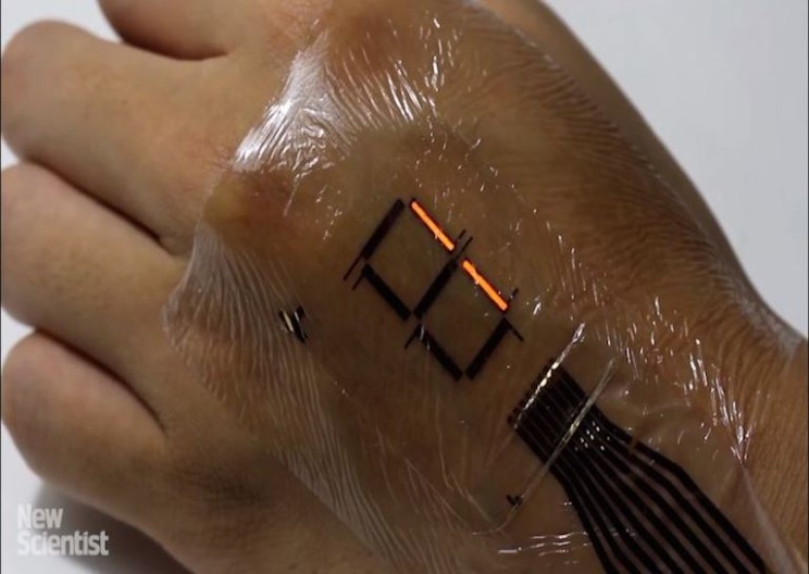 New Ultra-thin e-skin that can Turn your Skin into a Digital Display