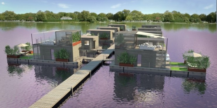 Abifloat floating village designed by Italian yacht designer
