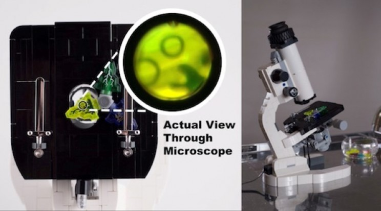 Functioning microscope built just out of Lego