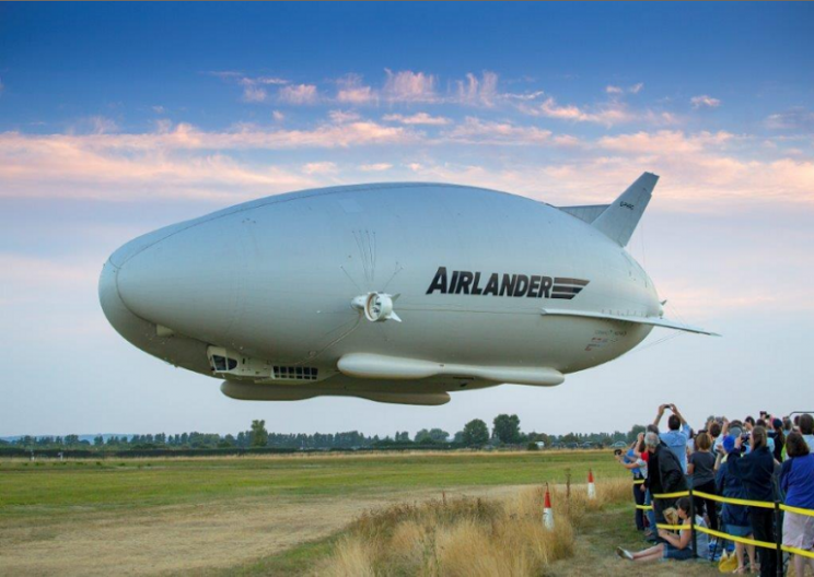 Giant Helium-filled Hybrid Airship Airlander Makes First Historic Flight