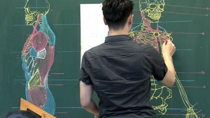 Professor Stuns His Class with His Anatomically Perfect Drawings