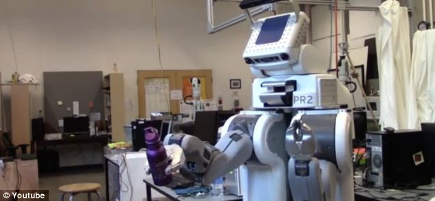 Charlie the robot makes eye-contact with humans