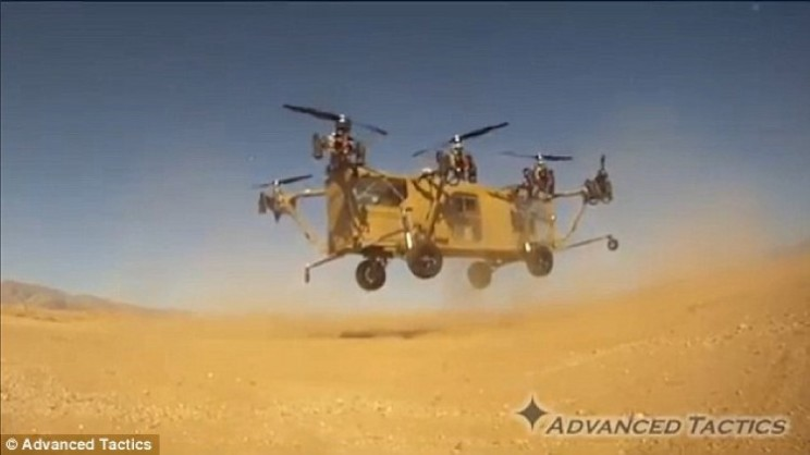 The new Black Knight Transformer Army VTOL Truck in action