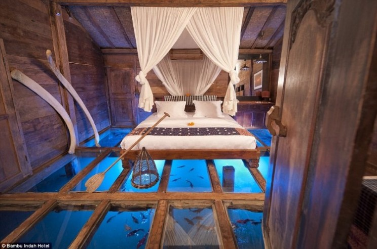 Sleep on a River in This Unique Hotel Room in Bali