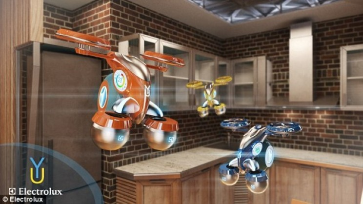 Flying drones could be the bartenders in the home of the future