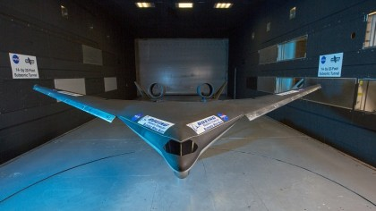Boeing's Future Blended Wing Body Aircraft Back in the Tunnel