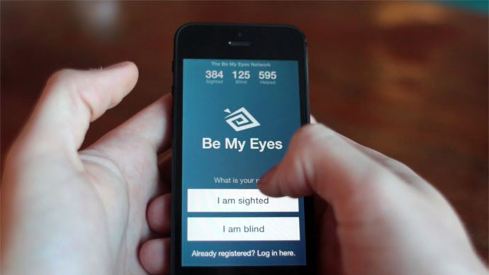'Be My Eyes' app allows anybody to assist the blind