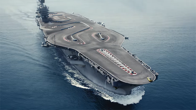 BMW flaunt the new M4 on the 'Ultimate Racetrack' - an aircraft carrier!