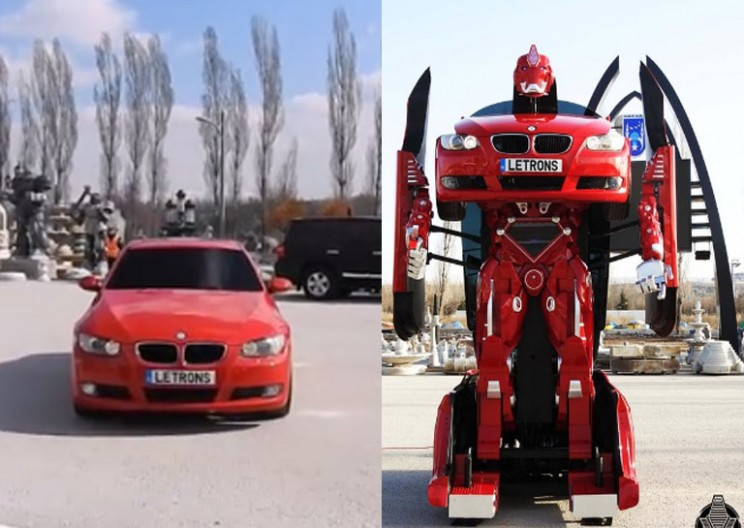 Turkish Engineers Turn Drivable BMWs into Real Life Transformers