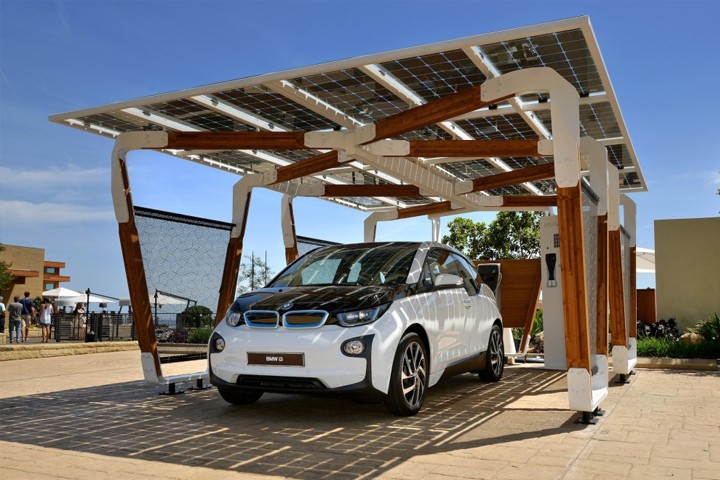 BMW shows off new solar charging station for your electric car