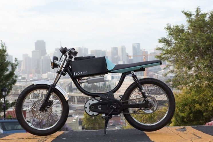 Bolt M-1 is part moped, electric motorcycle and bicycle