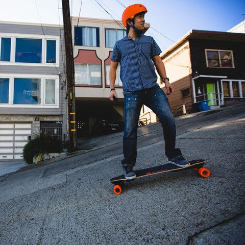 Self-Charging Electric Skateboard