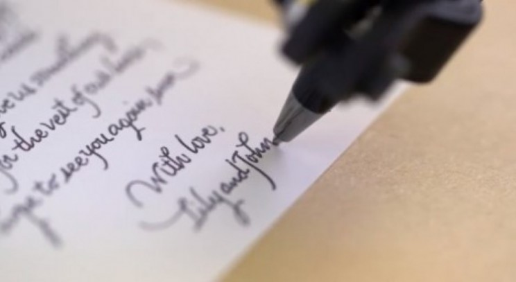 Bond robots add tech to old school methods for handwritten greetings