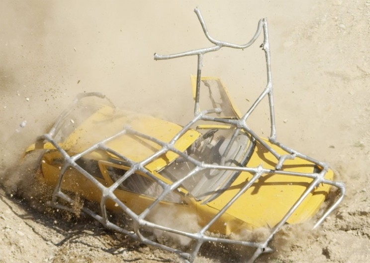What Happens if You Roll a Car Down a Cliff with a Roll-cage Held Together by Duct-tape?