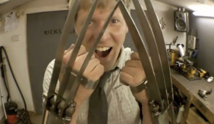 Mad inventor creates badass Wolverine claws... Whoa!