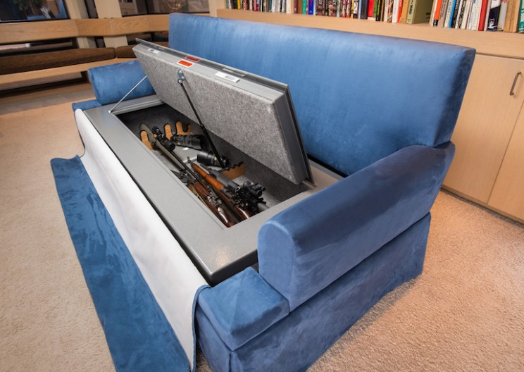 Bulletproof CouchBunker Doubles as a Gun Safe