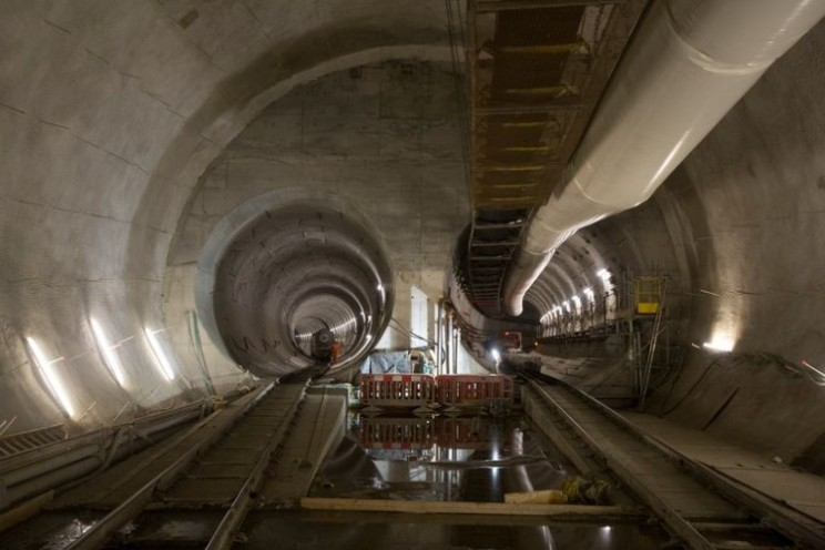 26 miles of tunnel completed for Crossrail link