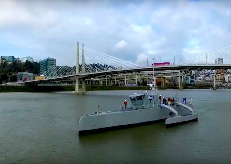 DARPA's New Autonomous High-Speed Submarine Hunting Ship