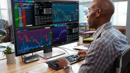 Dell Unveils Mammoth Desktop Monitor That Displays 4 Panels