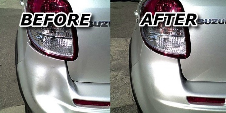 Fix a car bumper dent with some easy DIY