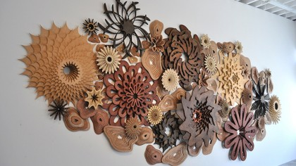 Artist Designs Precisely Cut Wooden Coral Reefs