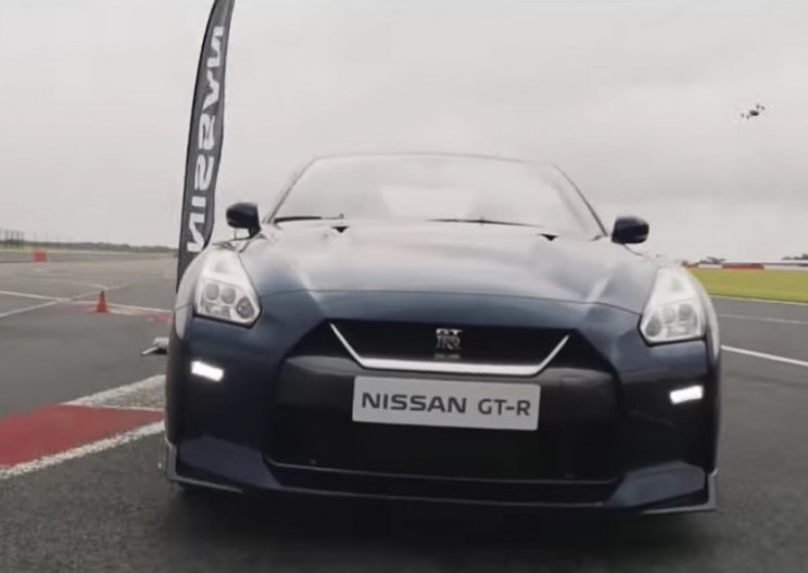 Nissan GT-R Races a Custom Drone at 115 MPH