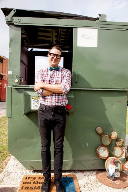 Professor takes up residence in dumpster for a year