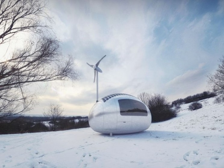 Independent off the grid living micro style with Ecocapsule
