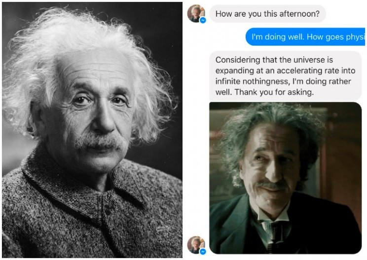 You Can Now Talk to Einstein on Facebook Messenger