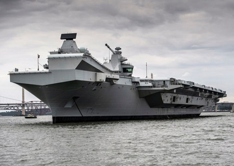 This Amateur Drone Landed on the UK's Biggest Warship and Nobody Noticed