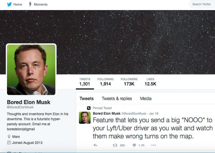 Bored Elon Musk Parody Twitter Account Is Incredibly Brilliant
