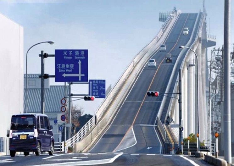 Tall Bridge Gives the Perspective of an Impossible Slope