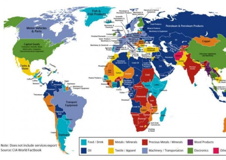 This Handy Map Details Each Country's Biggest Export