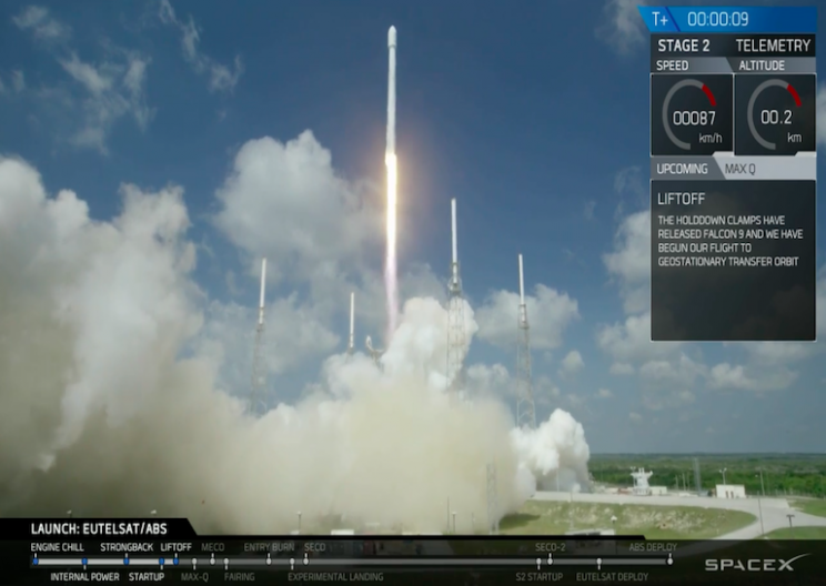 SpaceX's Falcon 9 Crashed into Drone Ship after Successful Launch