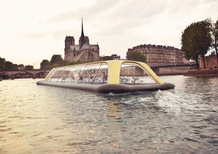 Paris's Floating Gym Powered by Human Energy