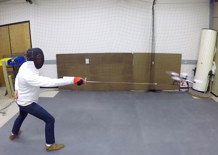 Fencing Drone can Dodge any Attack