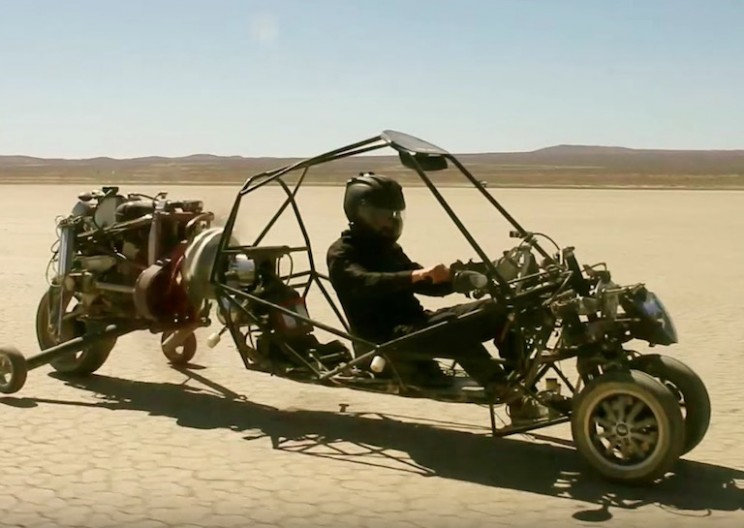 Engineer Designs Gyrocopter-Like Motorcycle Flying Car