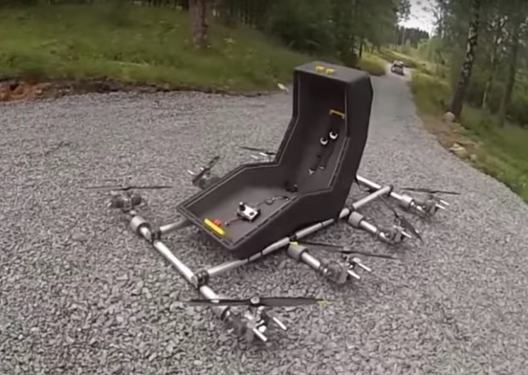 Swedish Maker Creates 8-Rotor Flying Chair