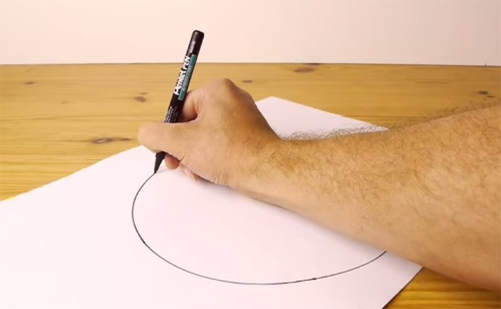 Think you can't draw a perfect circle freehand? Guess again