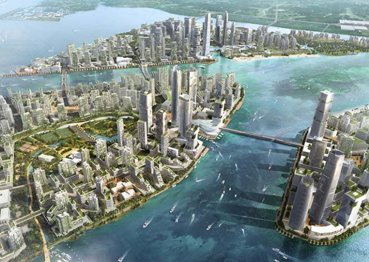 China Is Building a Giant City on Four Man-Made Islands